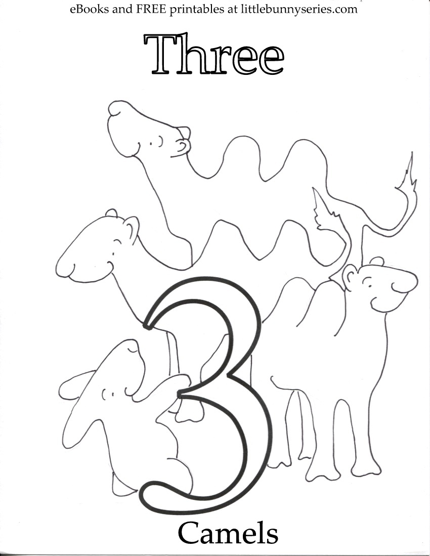 Number 3 Coloring Page PDF