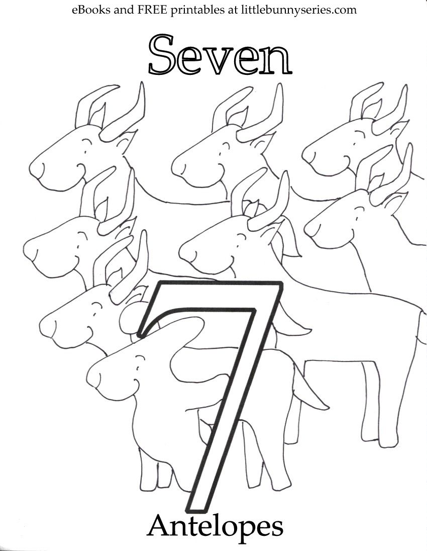 Number 7 Coloring Page PDF