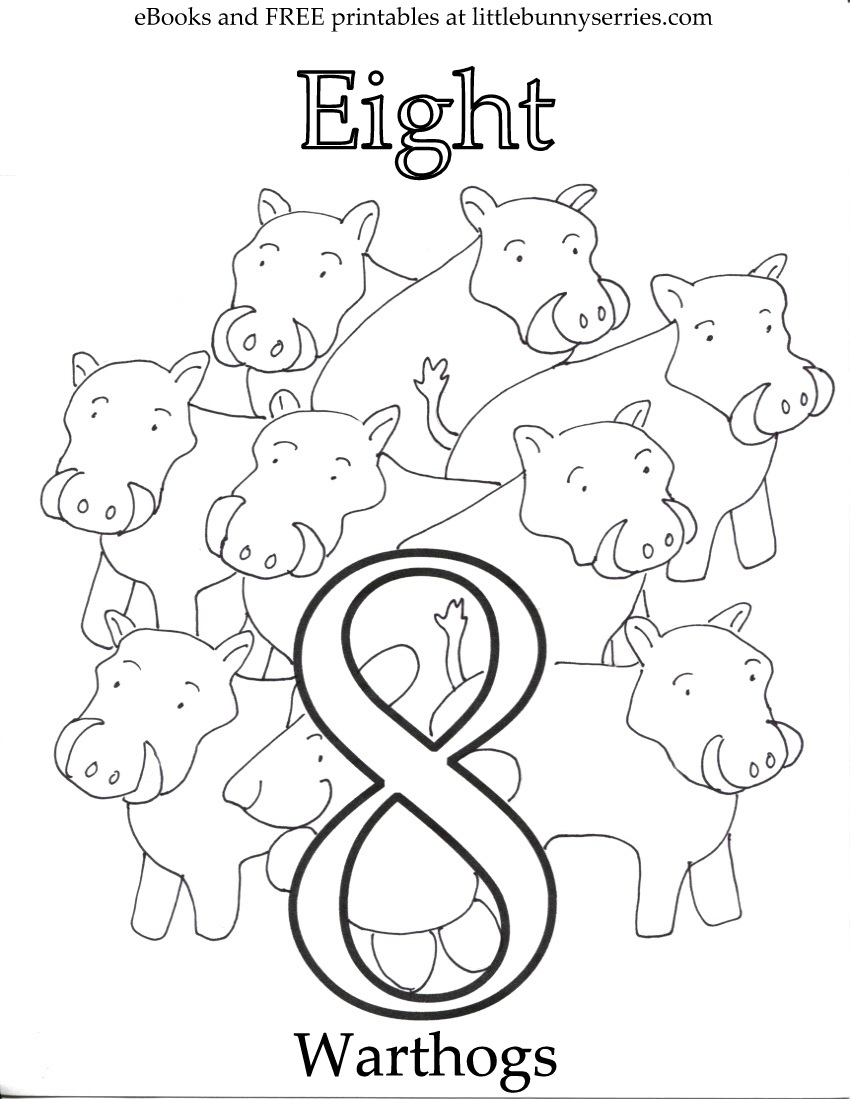 Number 8 Coloring Page PDF