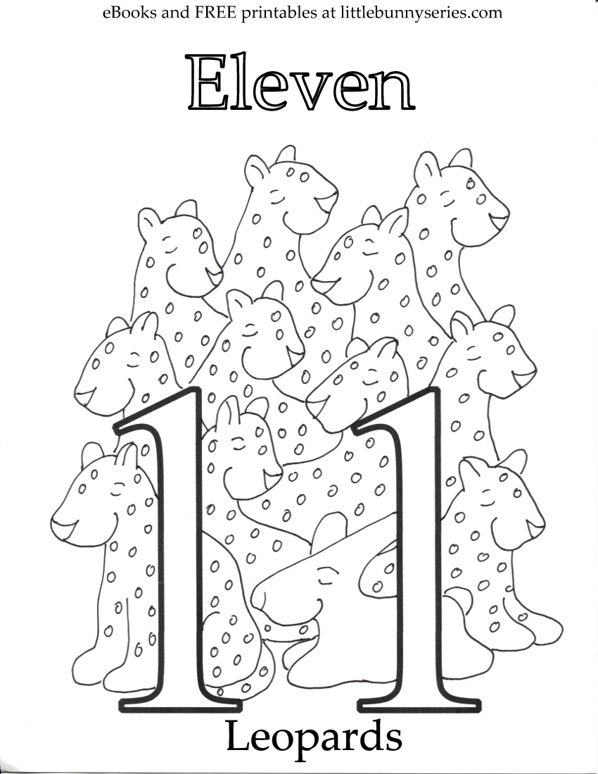 Number 11 Coloring Page PDF