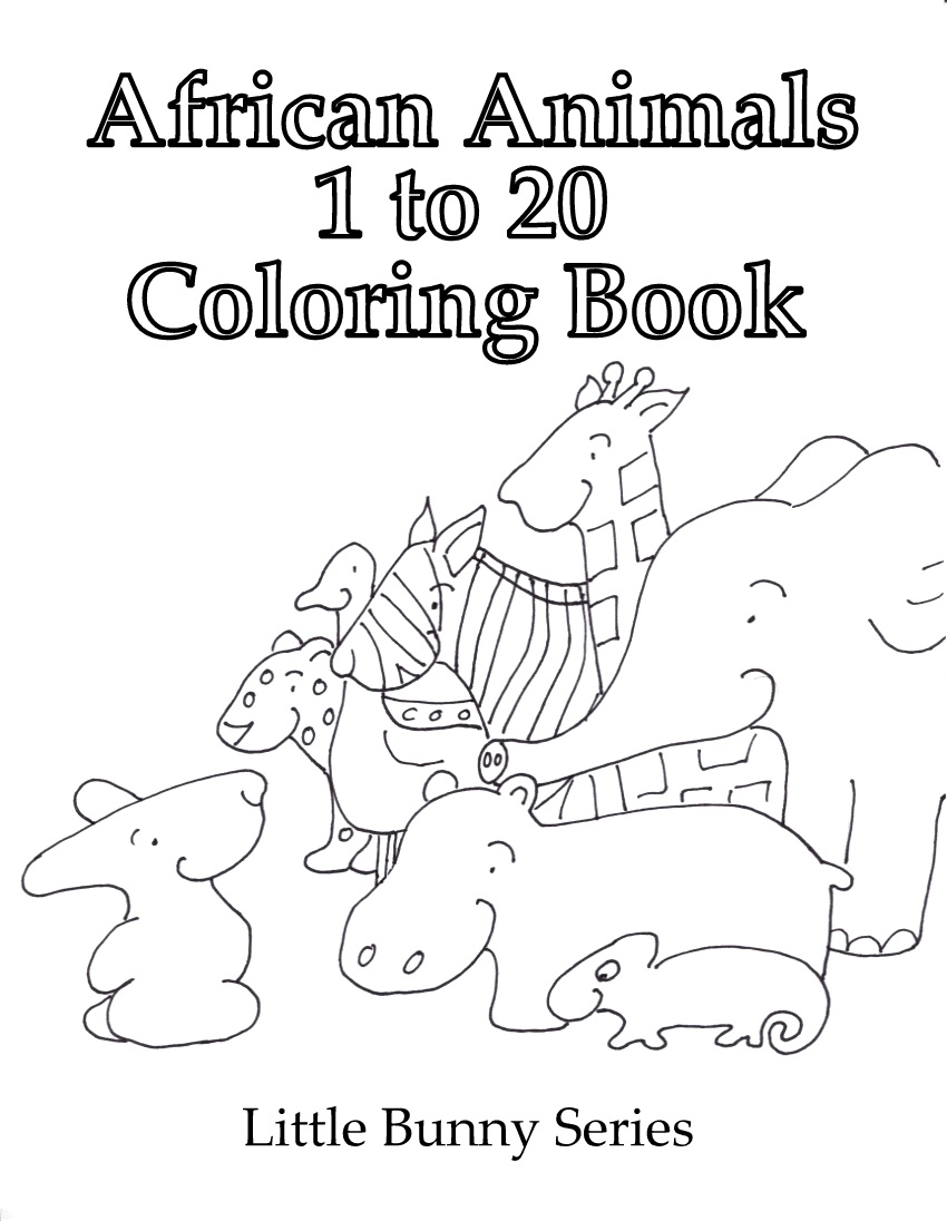 Click on the above image for a Cover for the 1 to 20 Coloring Book PDF.