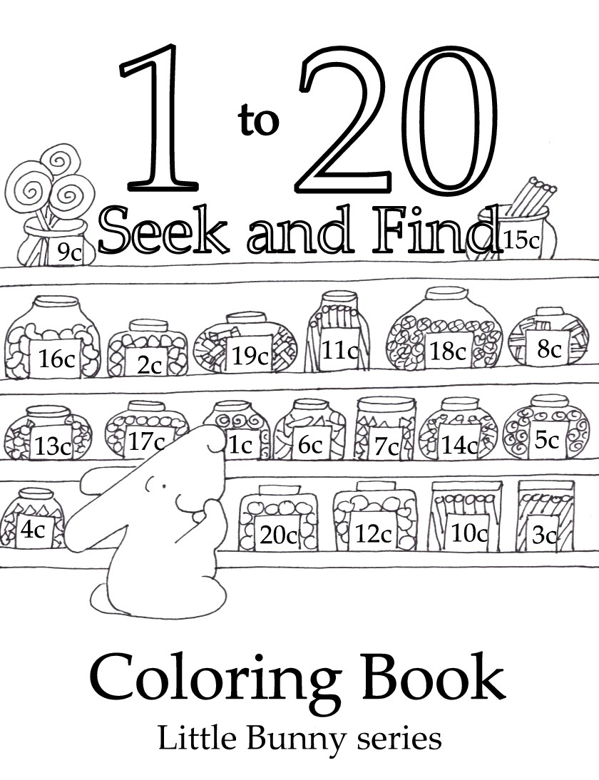 Click on the above image for the 1 to 20 Seek and Find Coloring Book PDF.  You can find the individual number Seek and Finds under the heading Printables and go to Seek and Finds.
