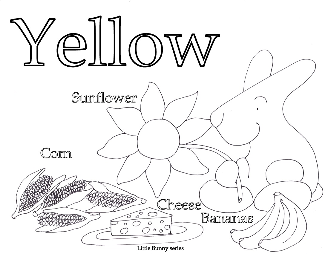 Yellow Coloring Page PDF