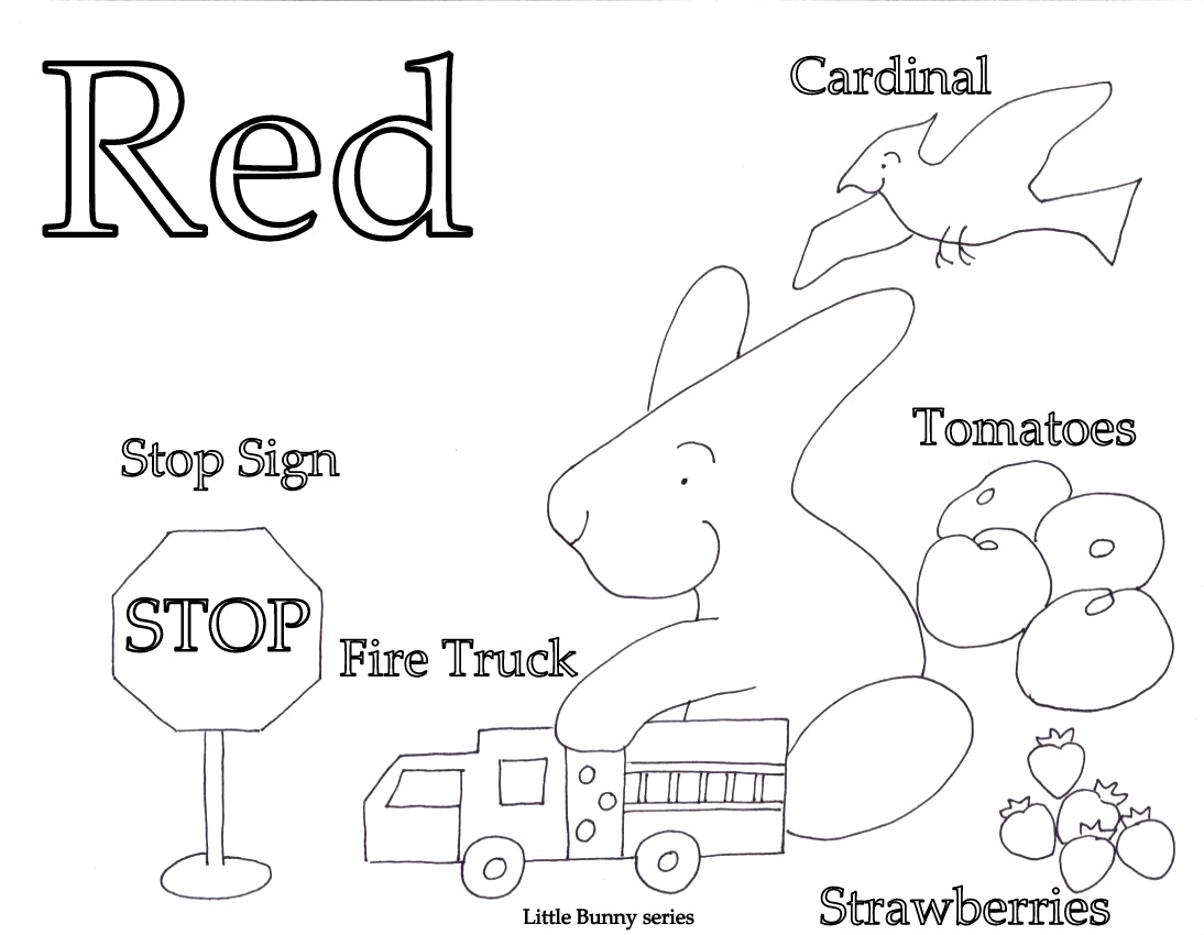 Red Coloring Page PDF