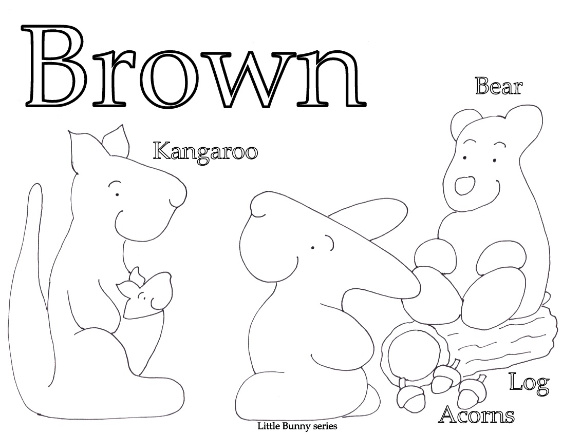 Brown Coloring Page PDF