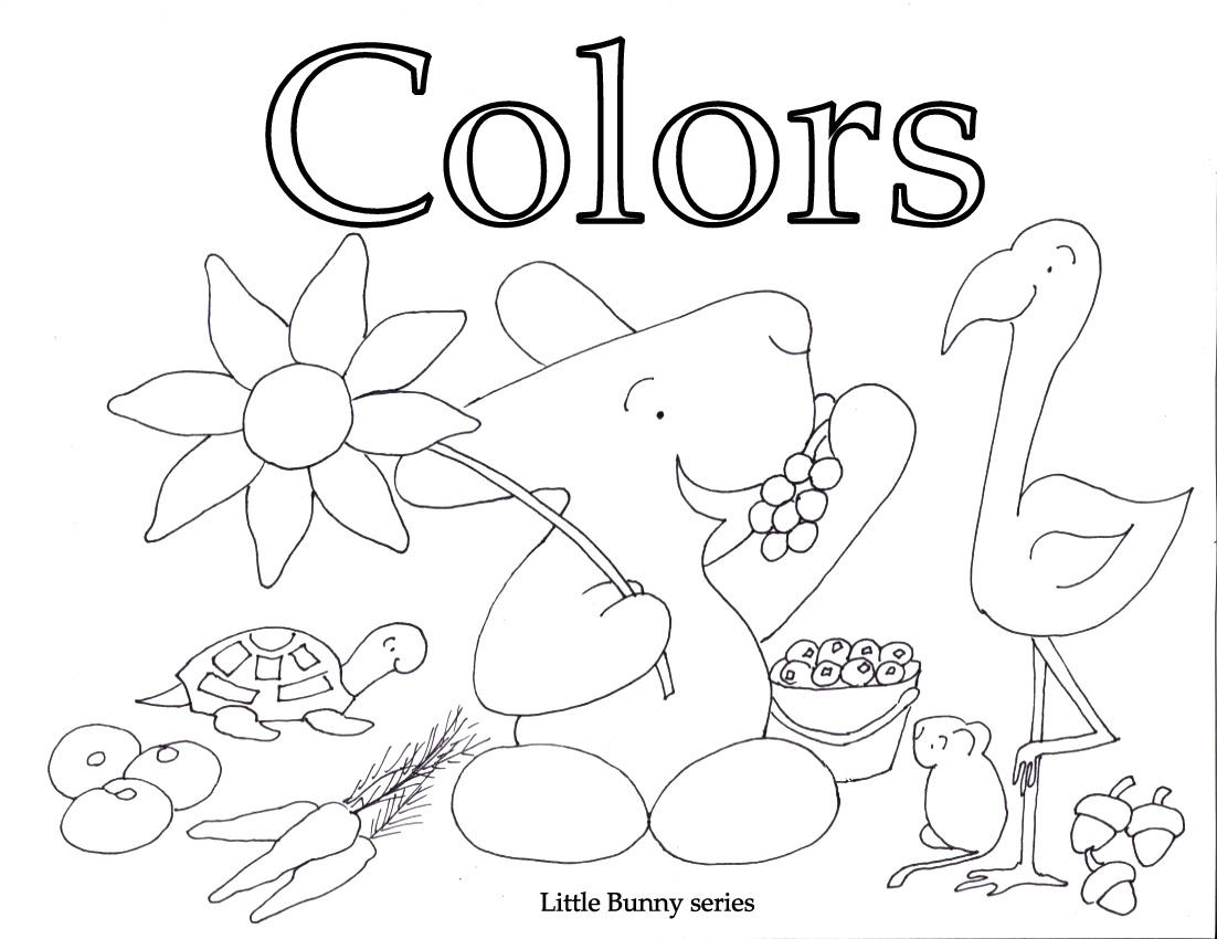 Click on the above image for the Colors Coloring Book in one PDF.