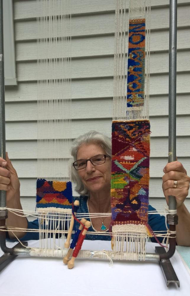 Pipe loom used in tapestry workshops