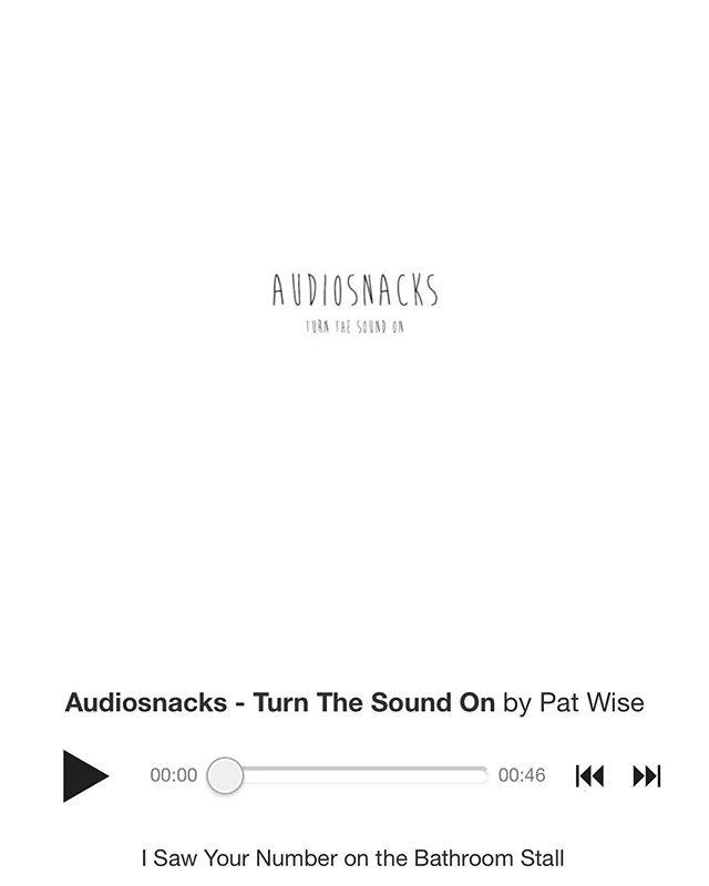 You can stream and download all of @audiosnacks now on bandcamp! There's also some fun extras on there 🆗🆒bye