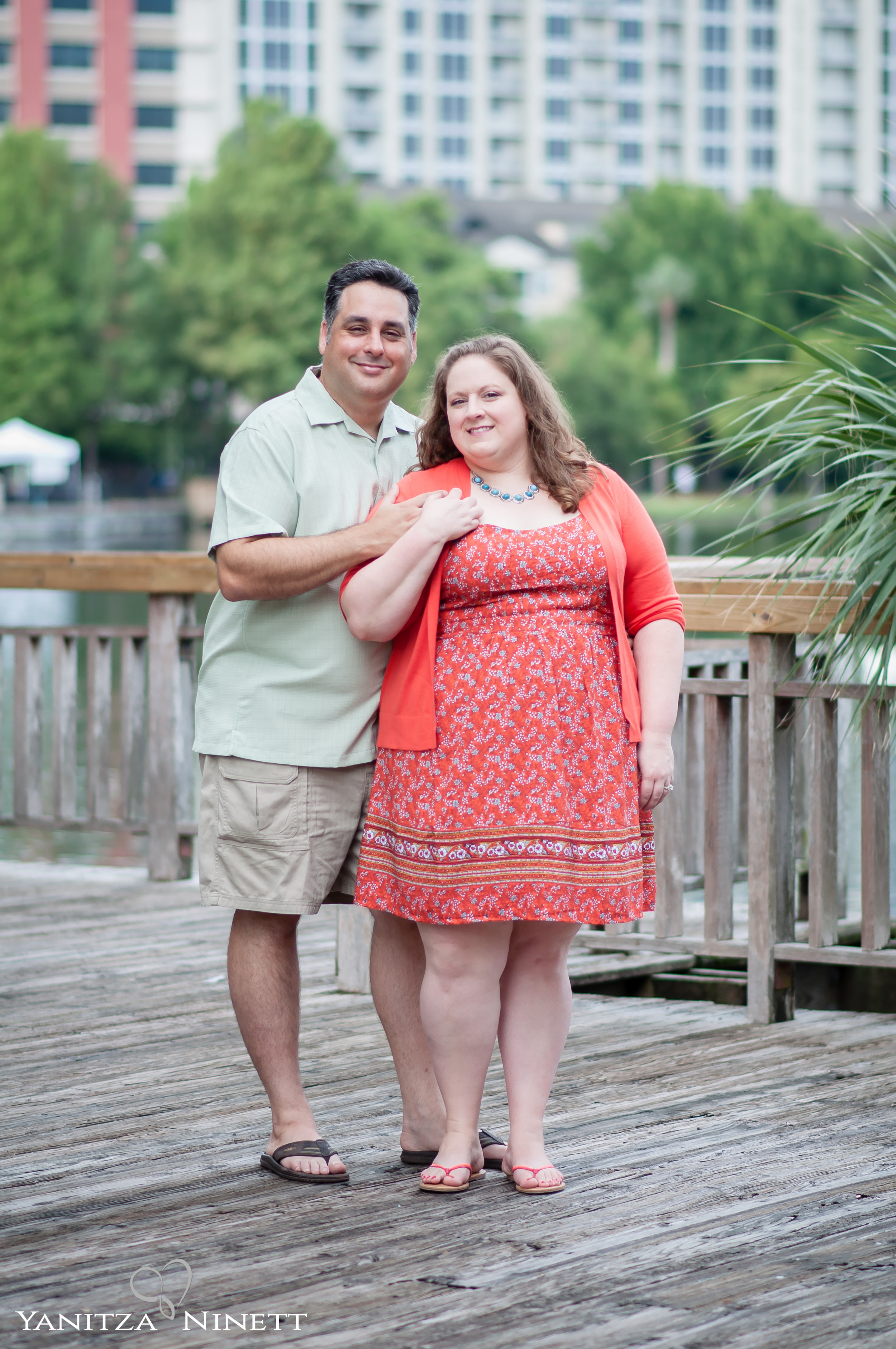 Family Session at Lake Eola Park in Downtown Orlando