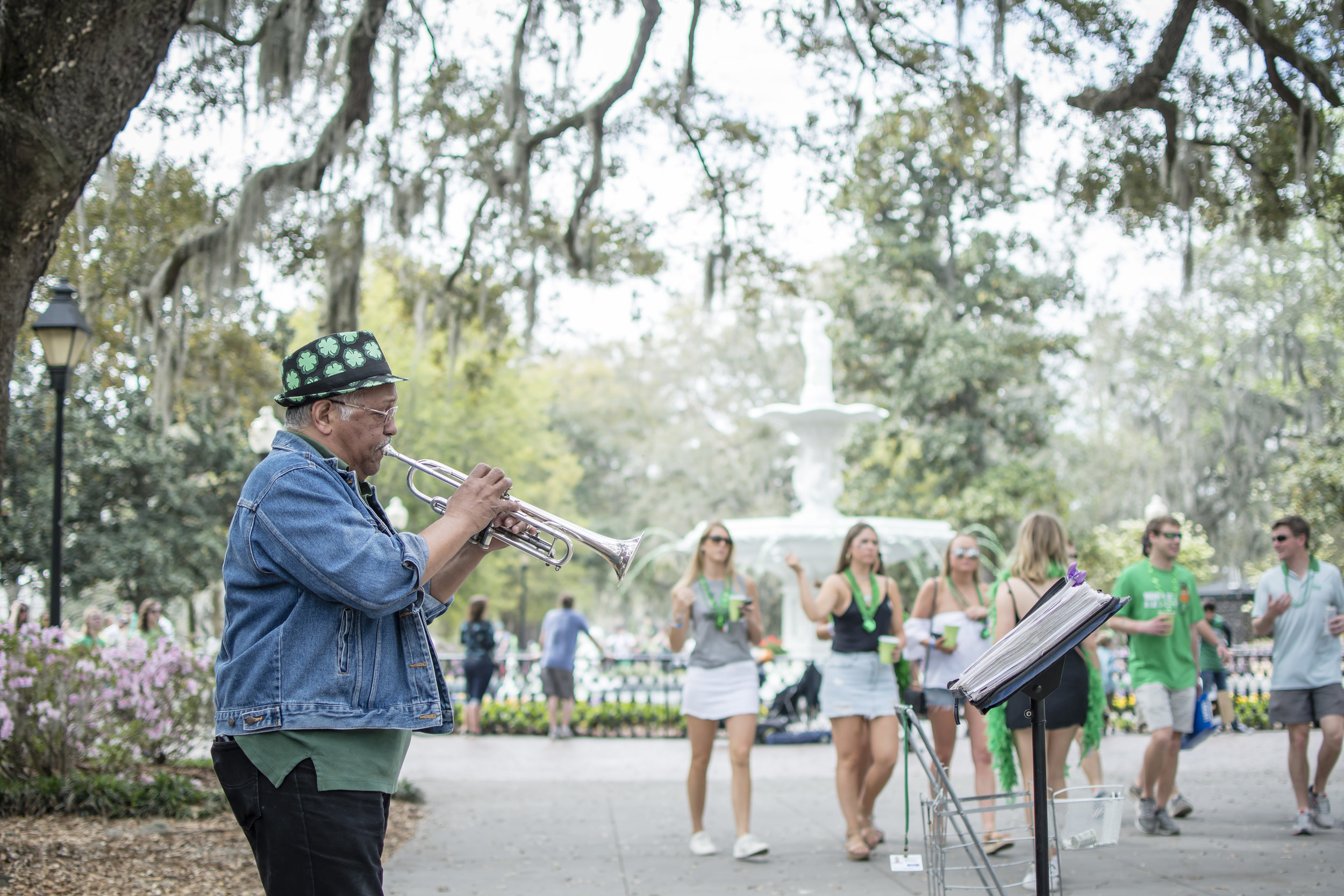 The St. Patrick's Day celebration in Savannah, GA was in full swing!
