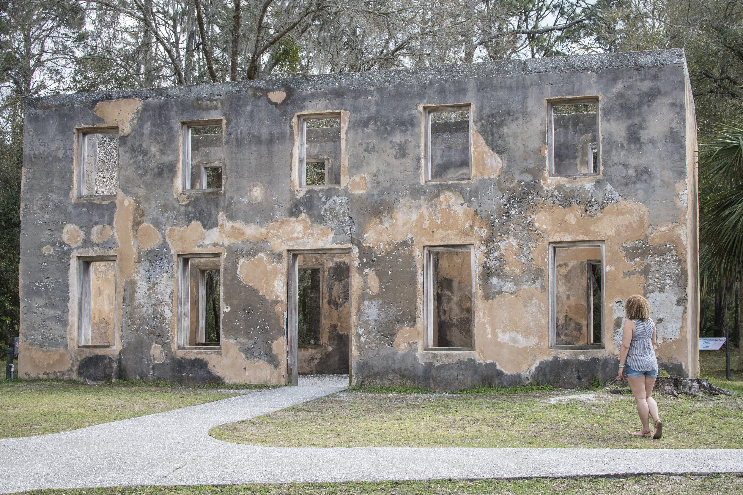 The Horton House ruins in Jekyll Island, GA