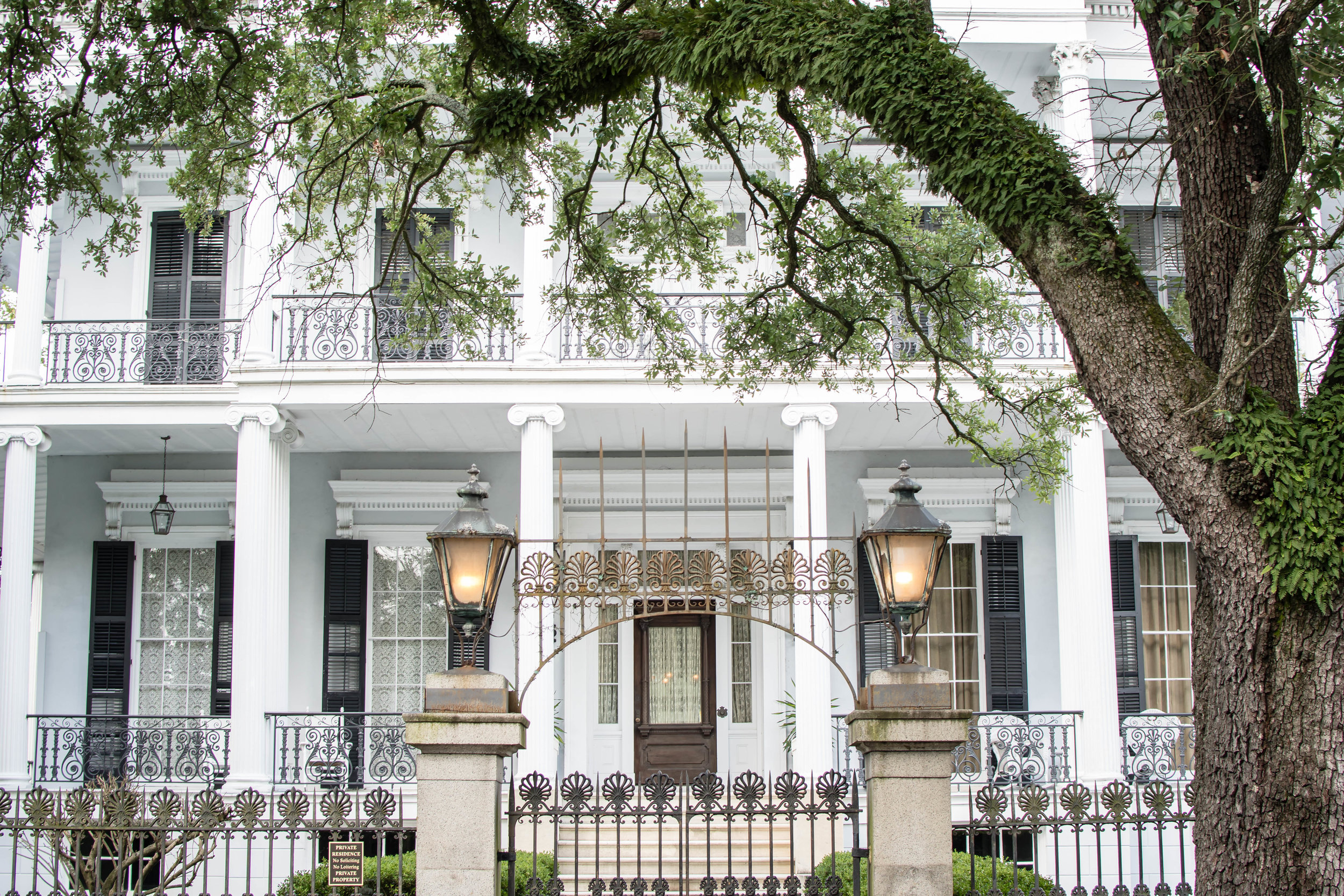 The impressively beautiful, Buckner Mansion.