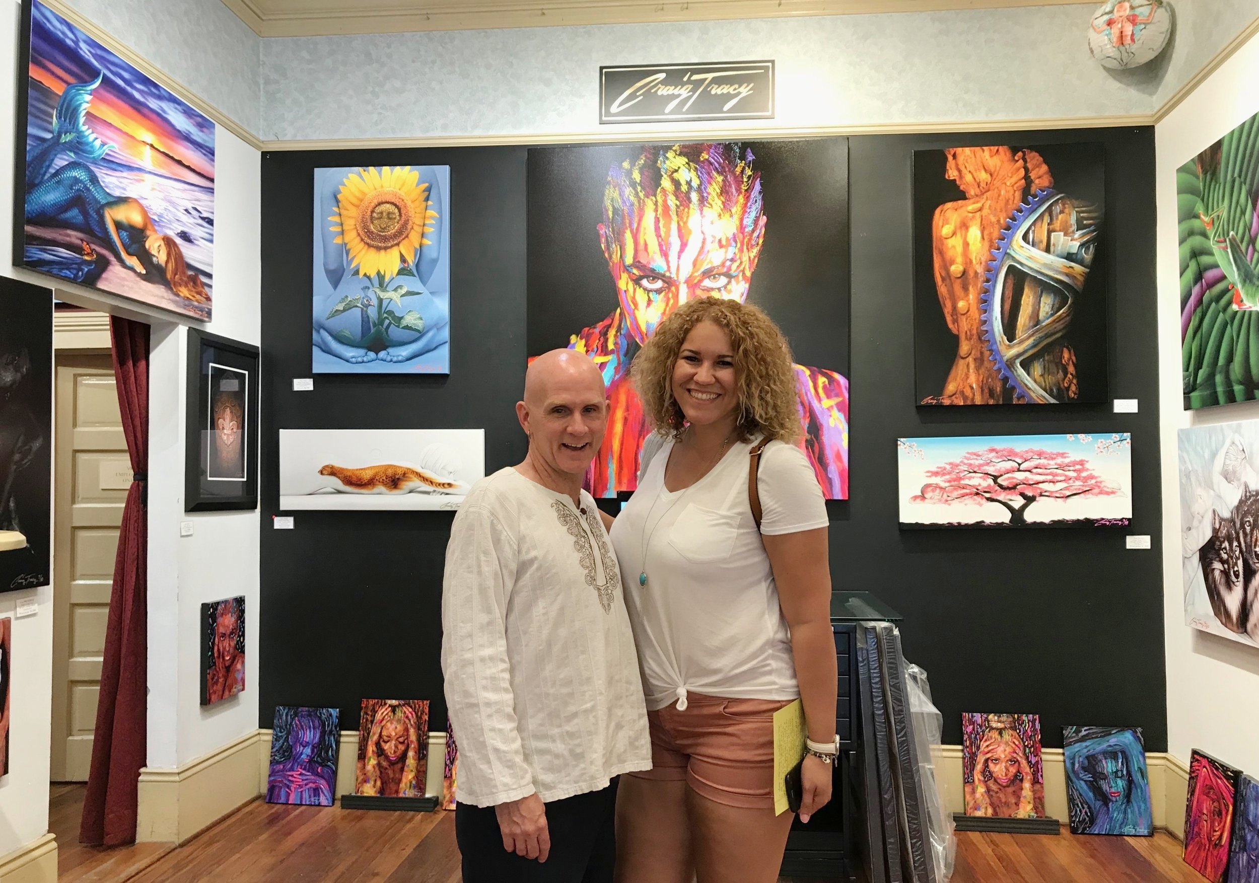I even found Craig Tracy in his gallery! I followed Skin Wars, so I was very impressed to see his artwork in person.