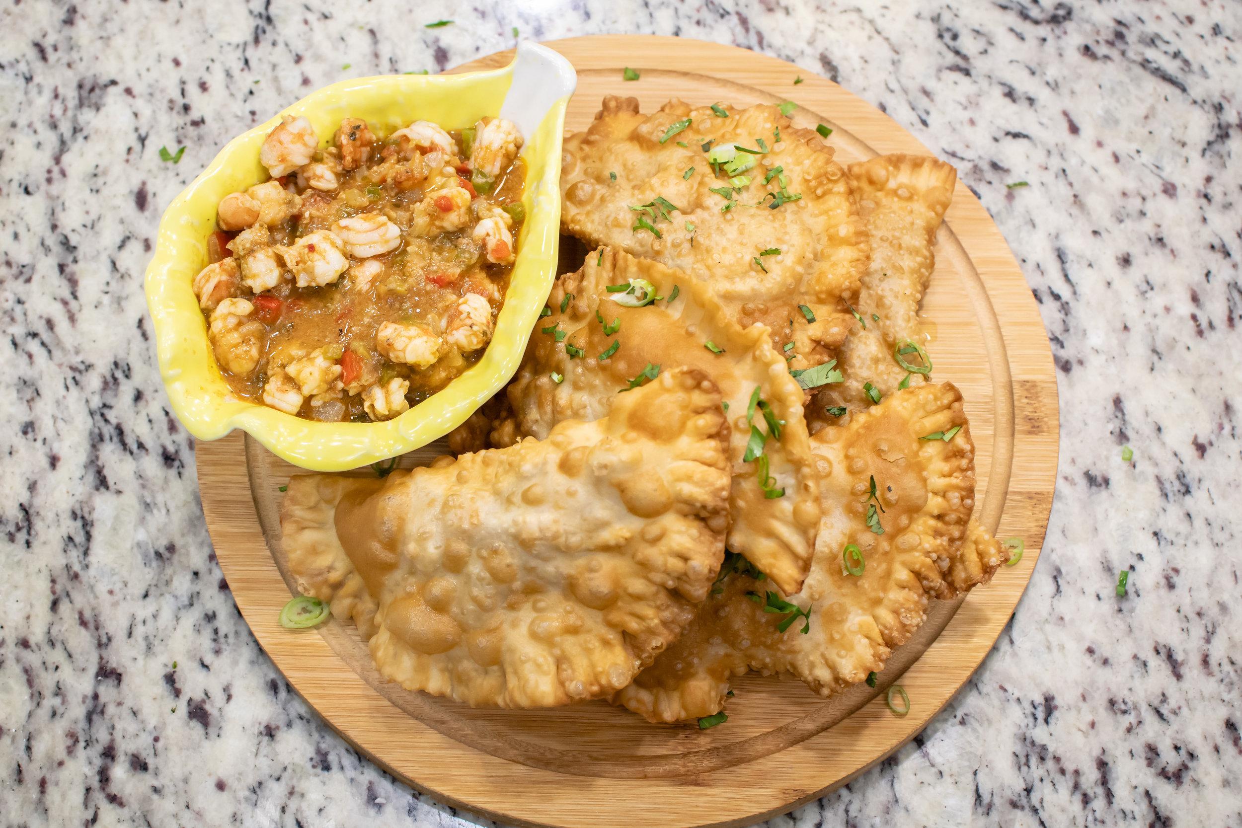 Shrimp Turnovers by Chef Alex Gandia