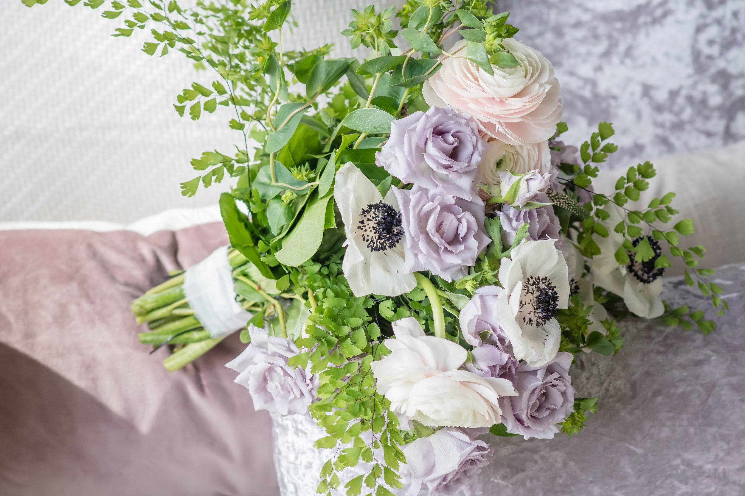 whimsical bridal flower bouquet
