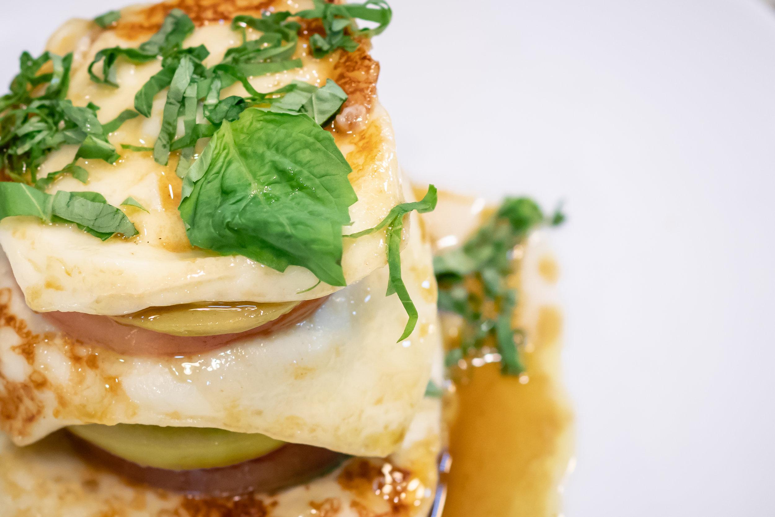 melon and mozzarella recipe by Chef Alex Gandia. Food photography by Yanitza Ninett Photography