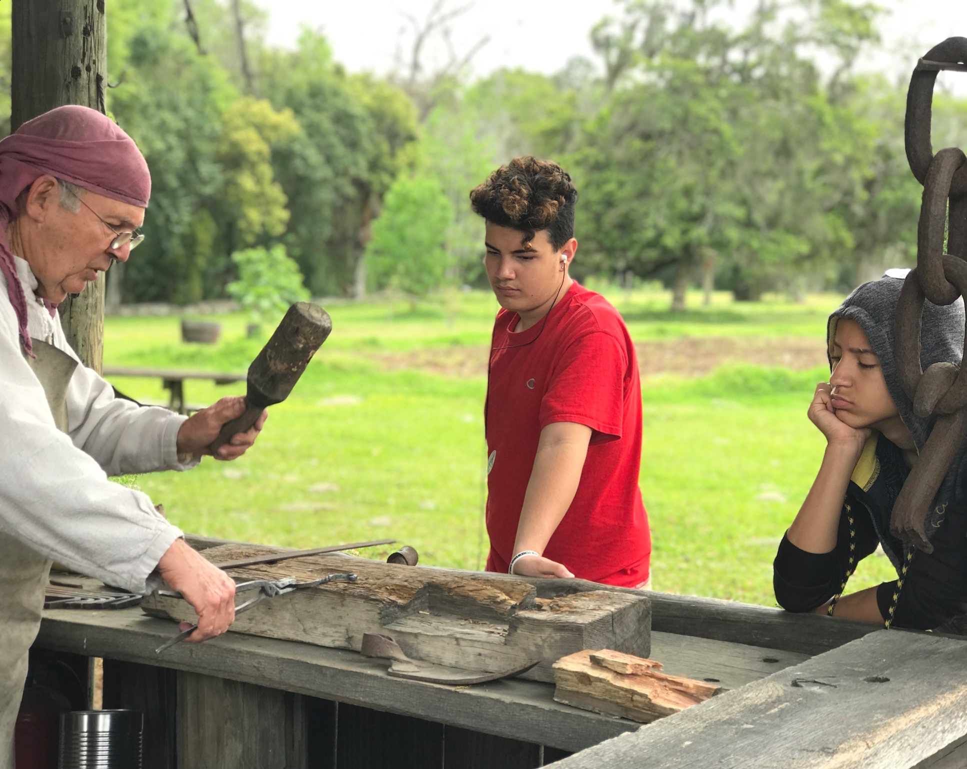 forging in Mission San Luis Tallahassee Yanitza Ninett Photography