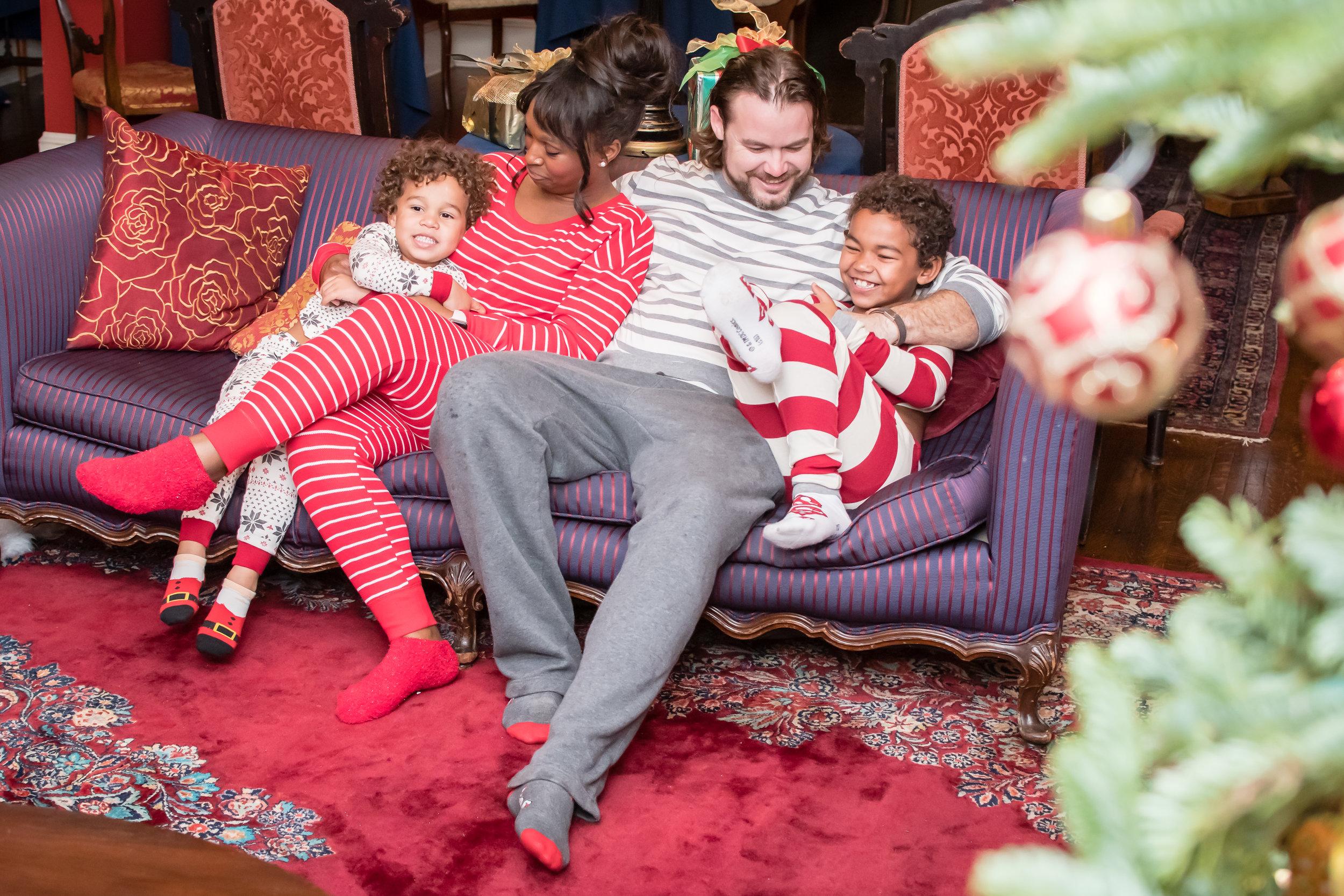 Christmas family photos in pajamas Orlando Photographer Yanitza Ninett