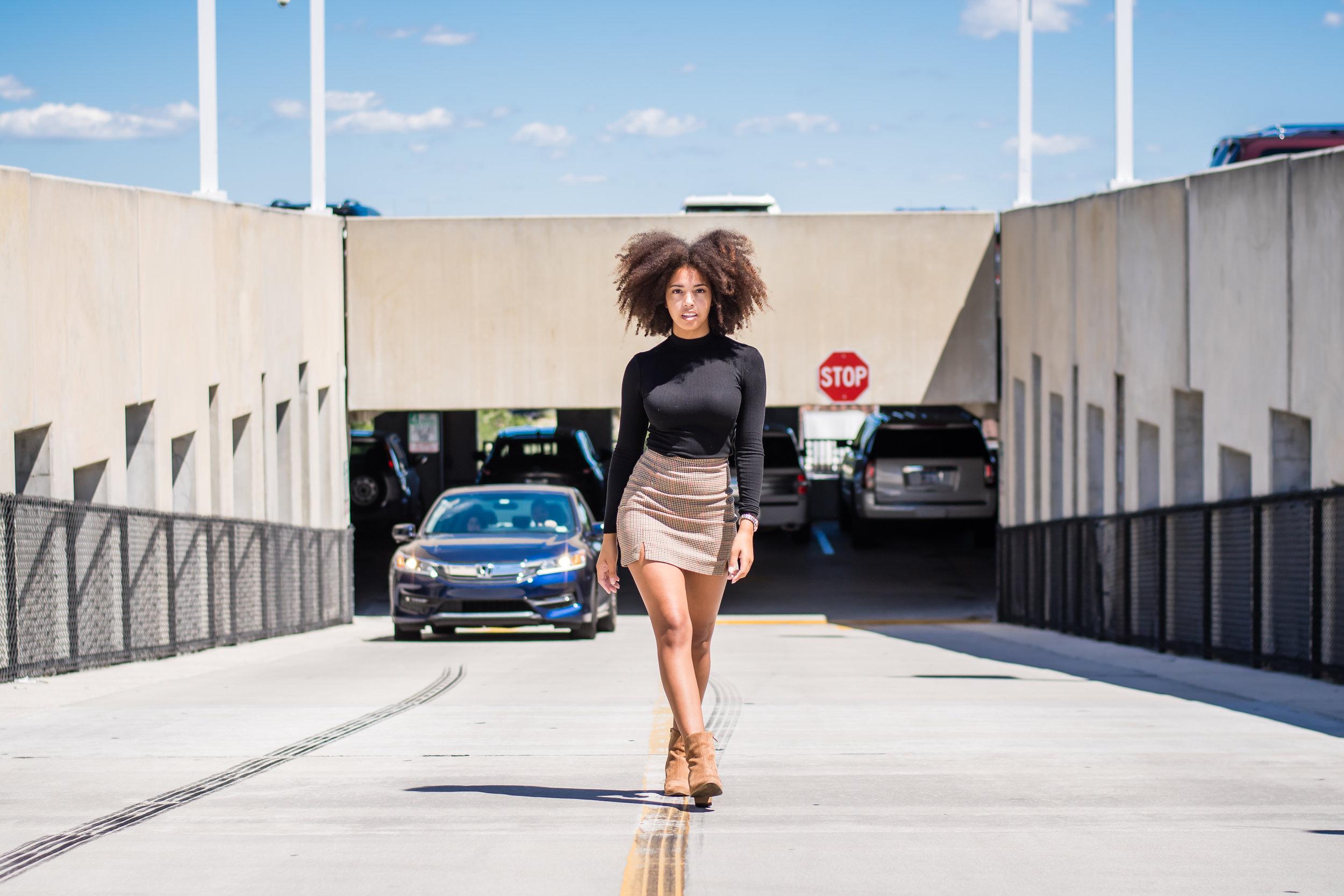 parking garage fashion photos Orlando photographer Yanitza Ninett