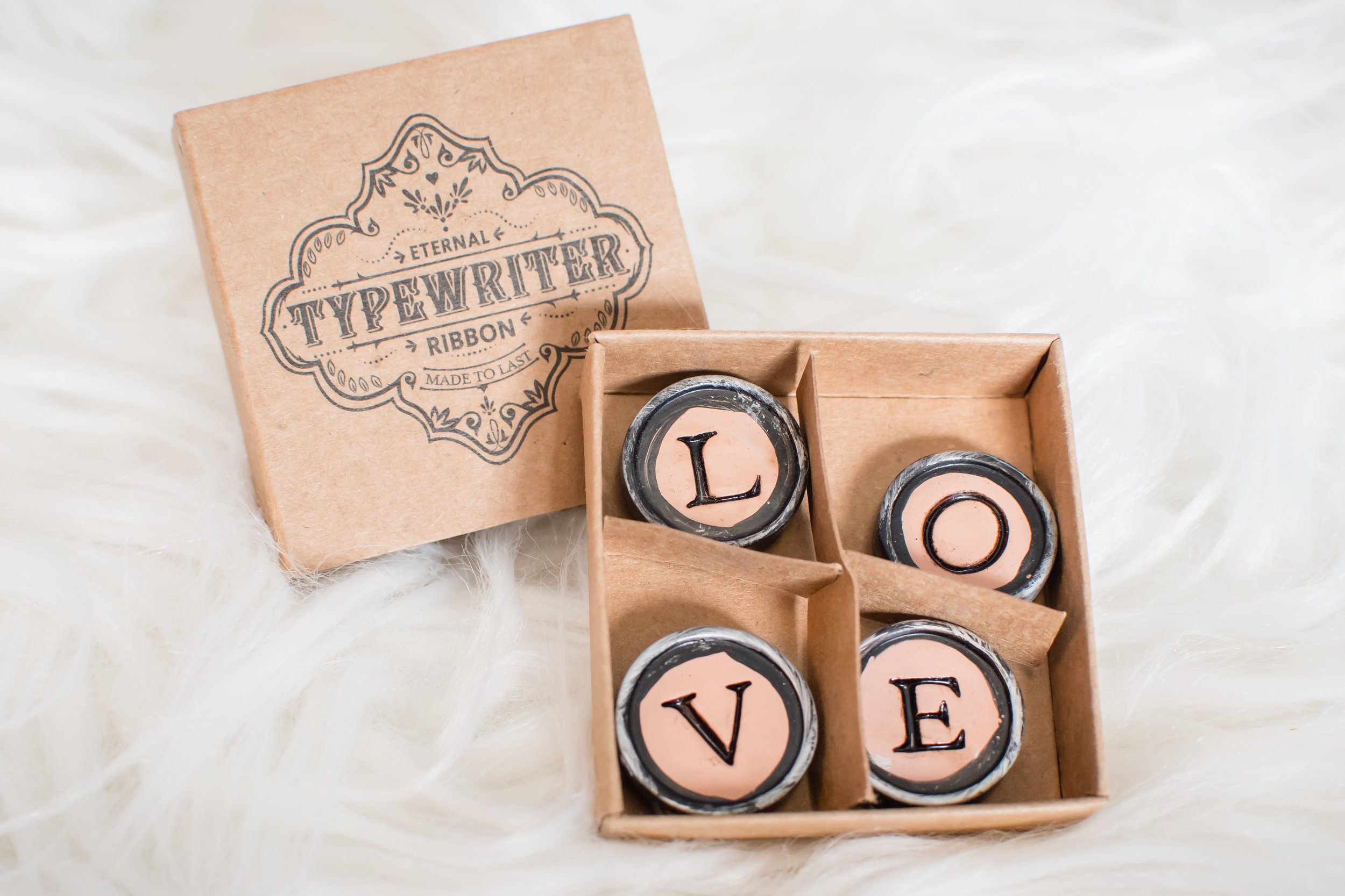 Typewriter Keys 'Love' Magnets