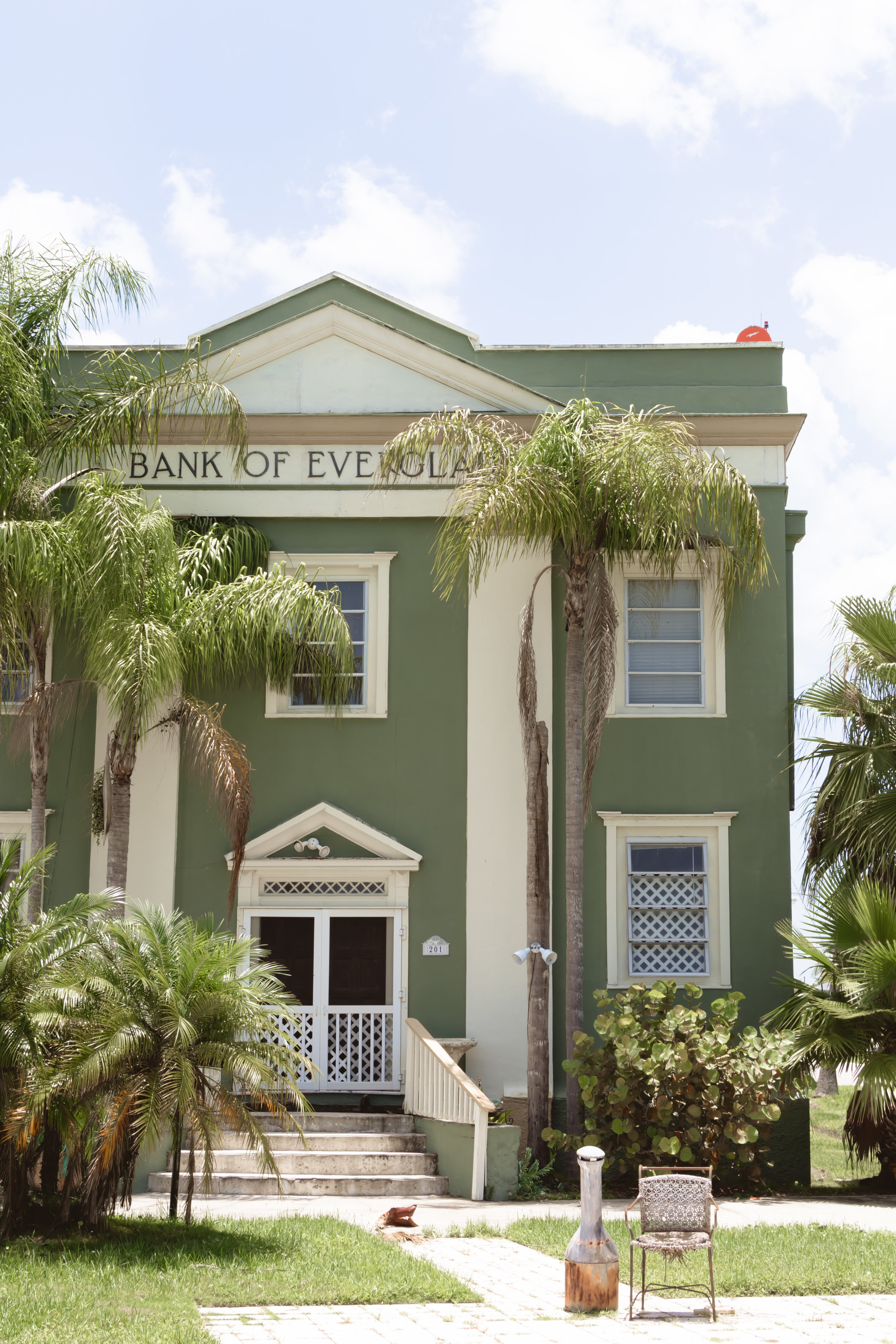 Bank of Everglades building, Circa 1926, was added to the National Register of Historic Places in 1999.