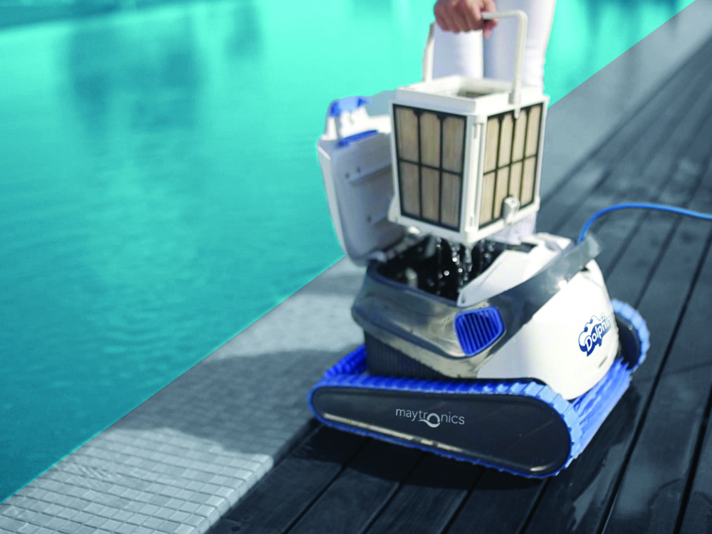 Schwimmbecken Roboter Dolphin