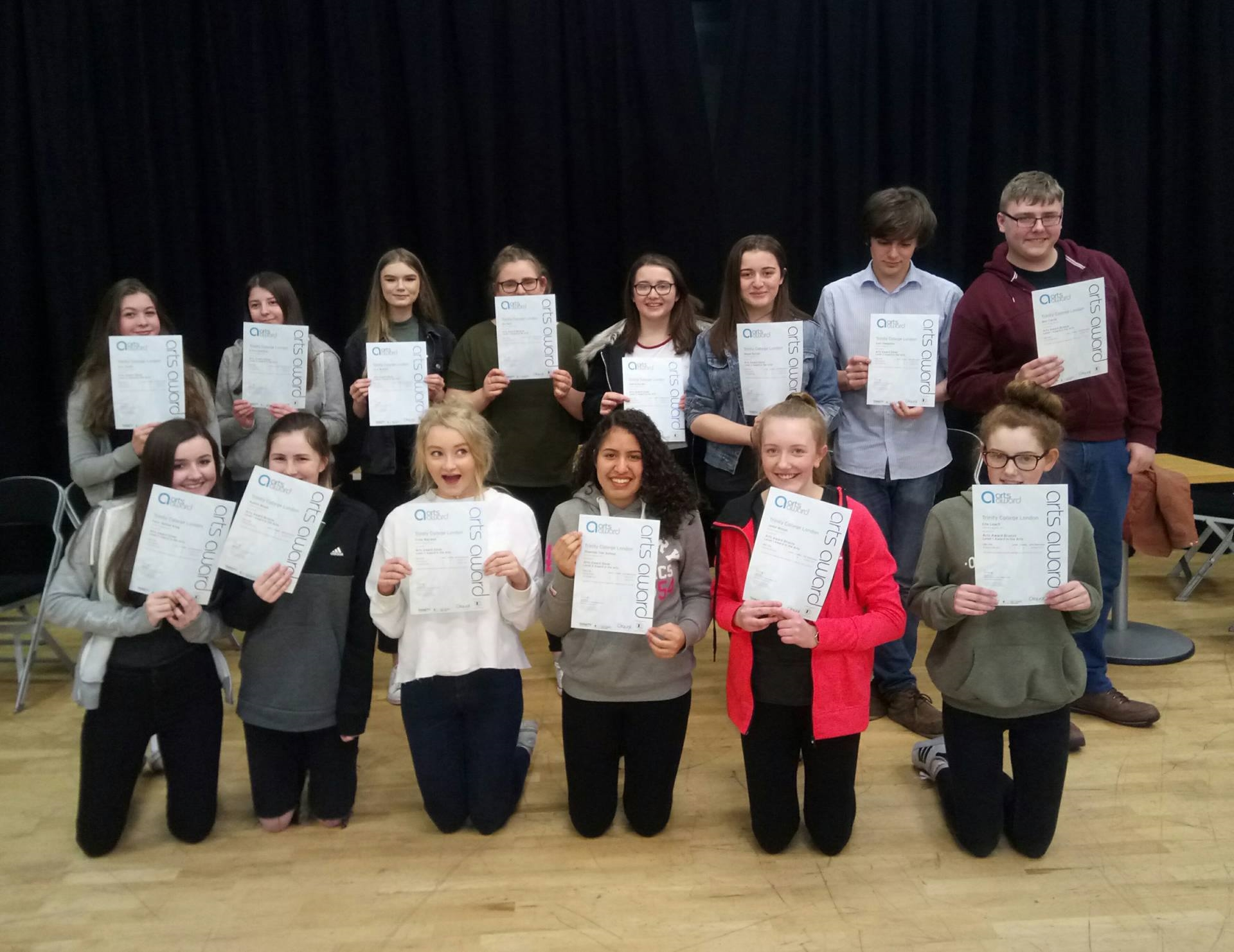 Express Arts receive Arts Award Certificates