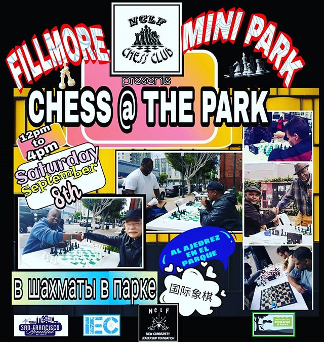 Come out & join us at the #Fillmoreminipark for music & Chess!👑