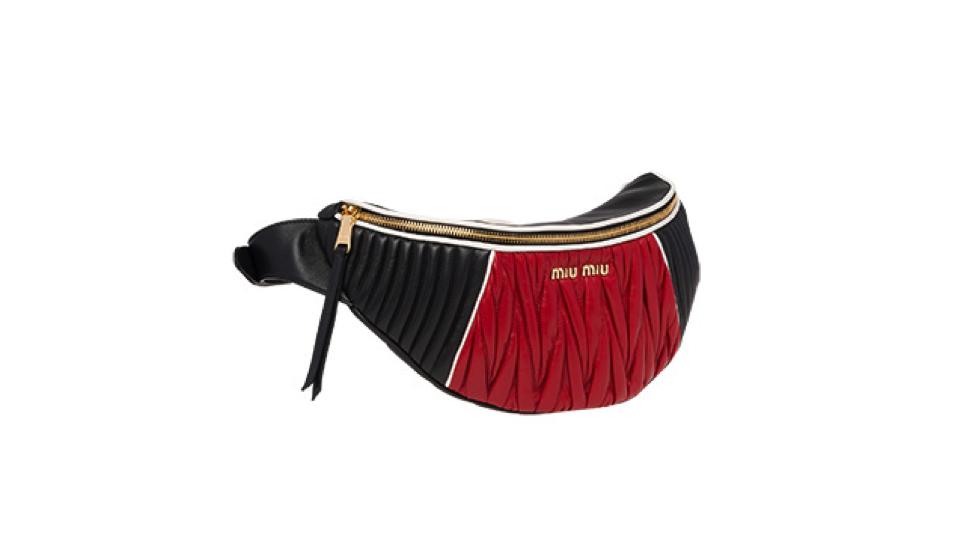 Matelassé Leather Belt Bag, £1,080 at    Miu Miu