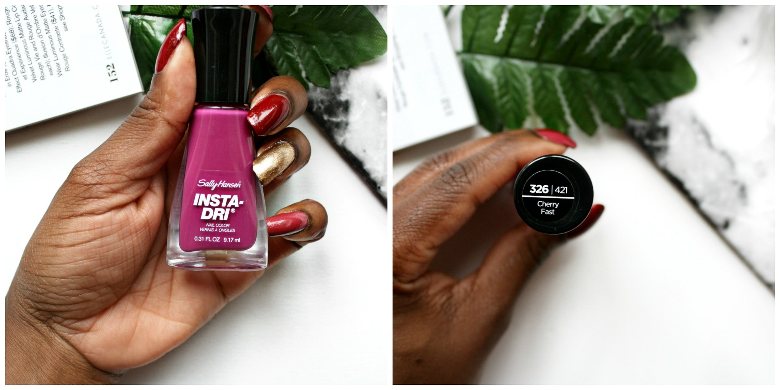 """Have you ever been curious about this Sally Hansen """"insta-dry"""" nail polish? Does it actually work?! Then Click Here to read my review & find out if it's legit!!"""