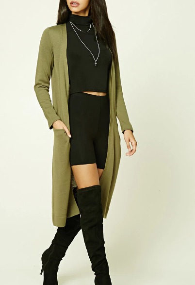 - Open Front Long-line Cardigan $24.90