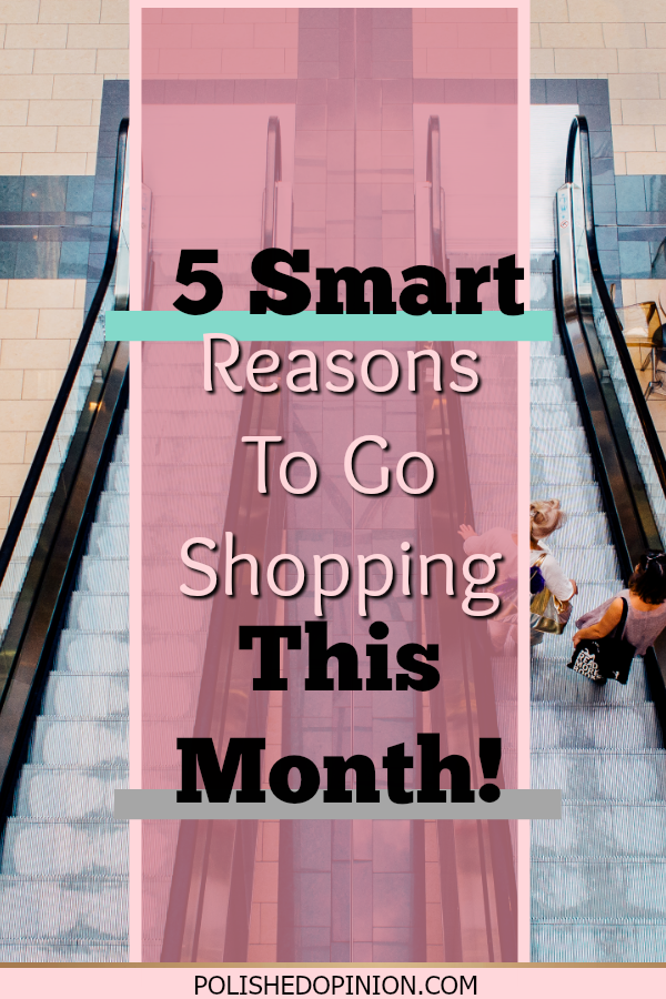 It's September!! Already?? I know! But that means, Pumpkin spice lattes, My Birthday and EPIC sales! Click & see 5SMARTreasons why you should go shoppingTHIS MONTH!
