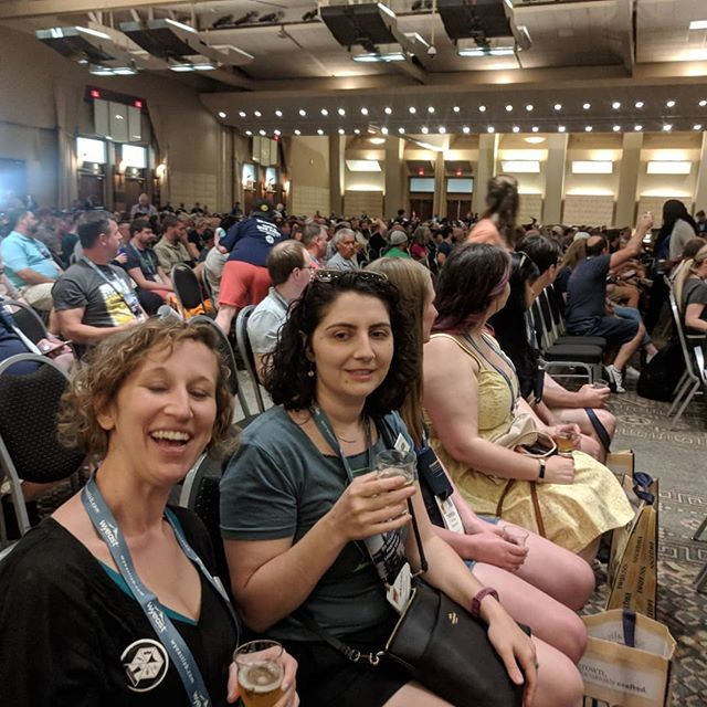 Hanging with the #brewminaries at #homebrewcon2019