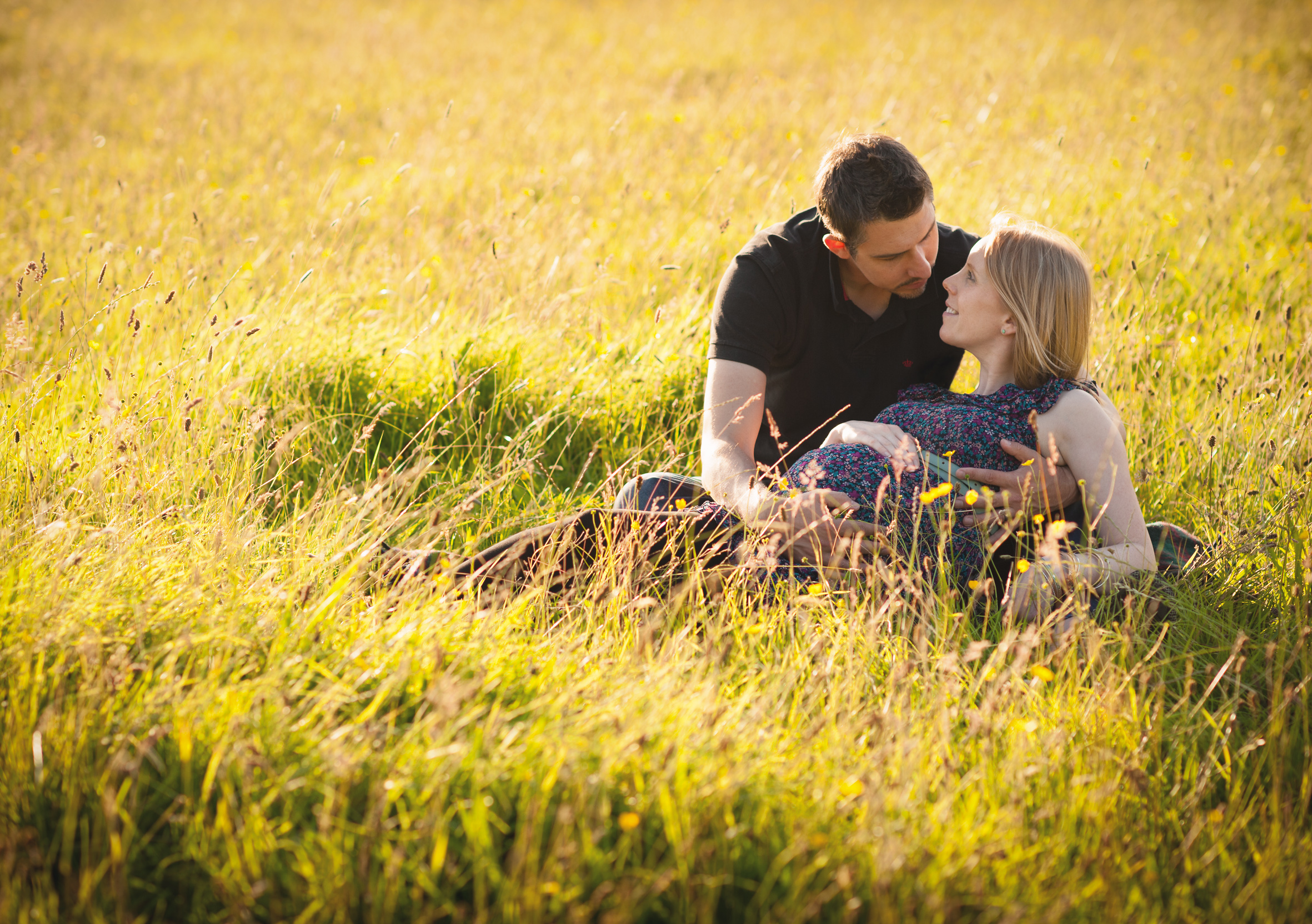 sunset outdoor family photography field