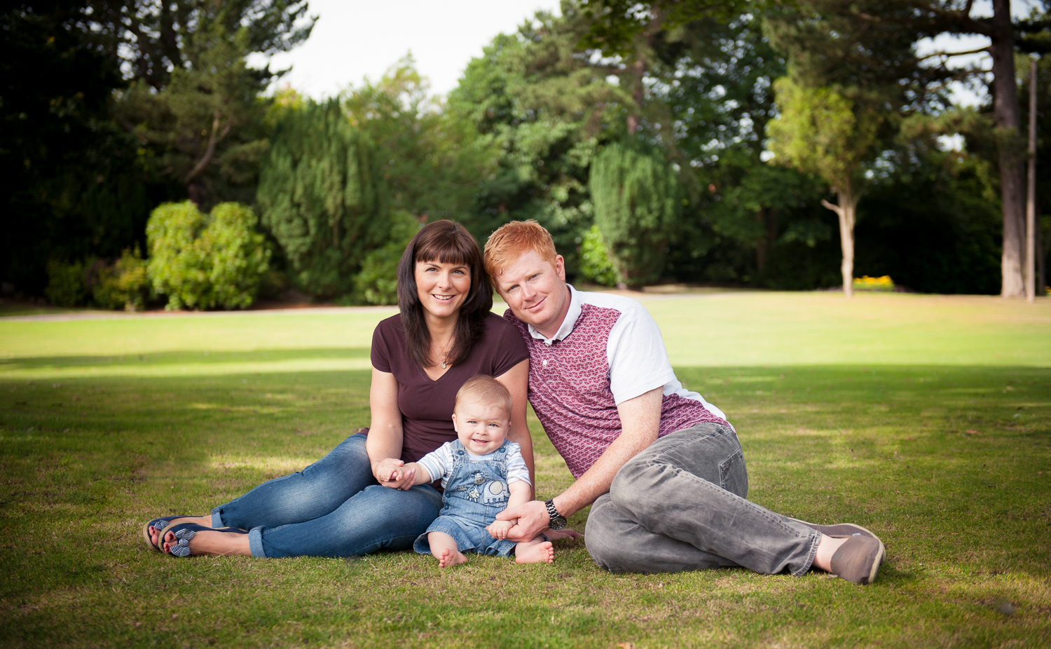 family of 3 in macclesfield park outdoor family shoot