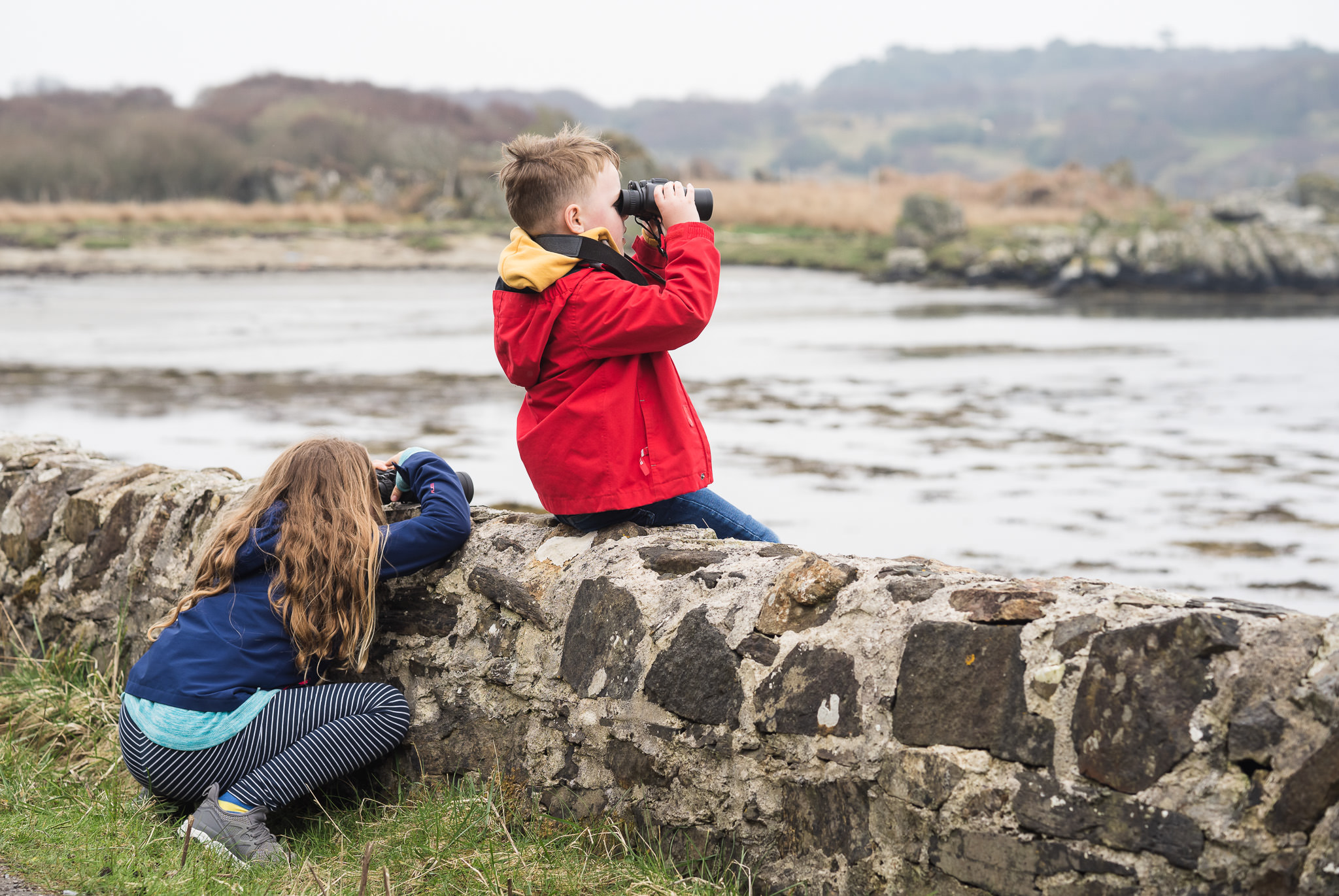 I noticed my daughter ducking down occasionally to steady her binoculars on the wall. Sure enough as soon as I got my camera out, she ducked down again!
