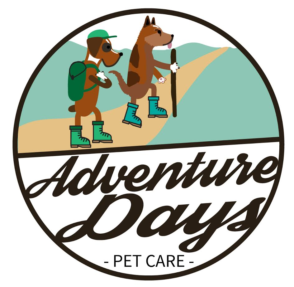 B R A N D - ADPC pet sitters often hike and swim with pets throughout Austin's greenbelt, so ADPC wanted the logo to have a strong outdoor influence. The furry friends featured in the logo are illustrations of the owner's Boxer and Australian Cattle Dog.