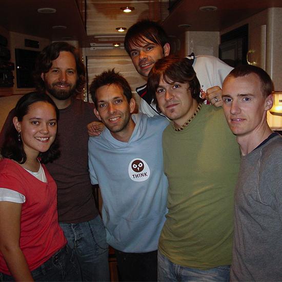 Jena with Matt Odmark, Stephen Mason, Charlie Lowell, Dan Haseltine, Aaron Sands