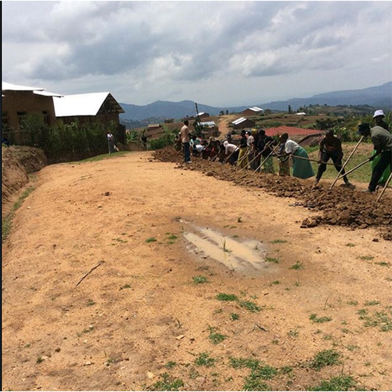 During our 2015 Lent campaign, you raised funds to bring clean water access to three communities in Rwanda. This is the third community where your funds are being put to work. Clean water construction is underway.