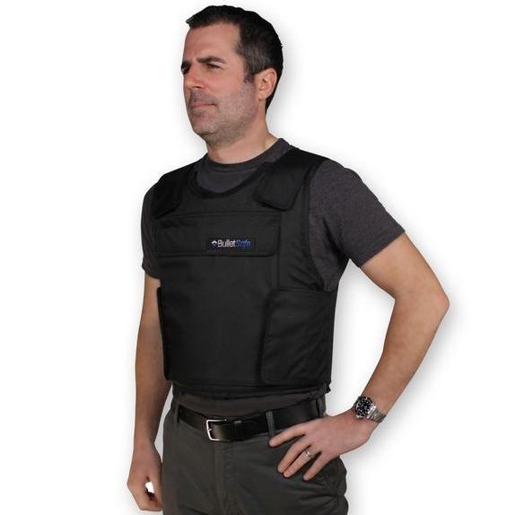Tom Nardone models a Kevlar vest