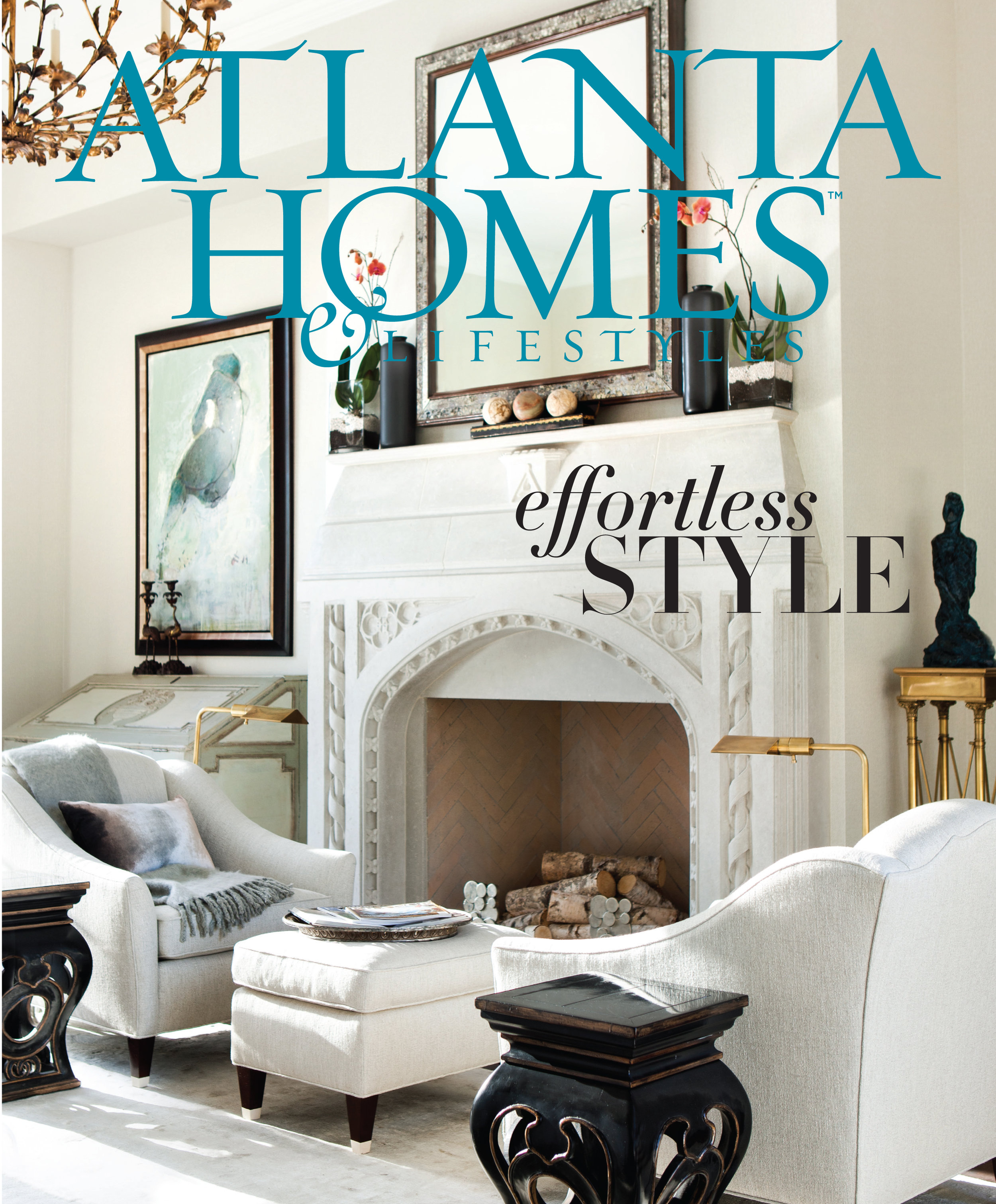 The cover of one of my favorite rooms at an    Atlanta Homes & Lifestyles    Showhouse. Also, one of my favorite magazines - ideas and inspiration galore! (full disclosure, I also work with them - being surrounded by so many beautiful things is dreamy!)