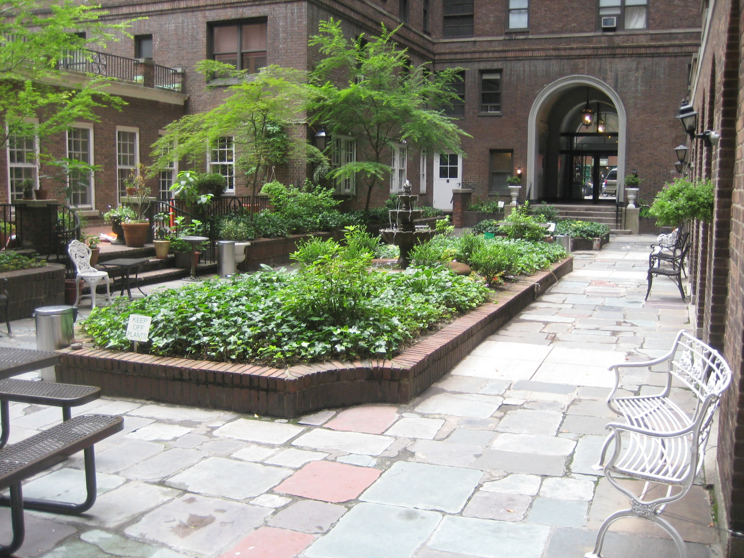 My courtyard (the BUILDING'S courtyard) in my last apartment in NYC.