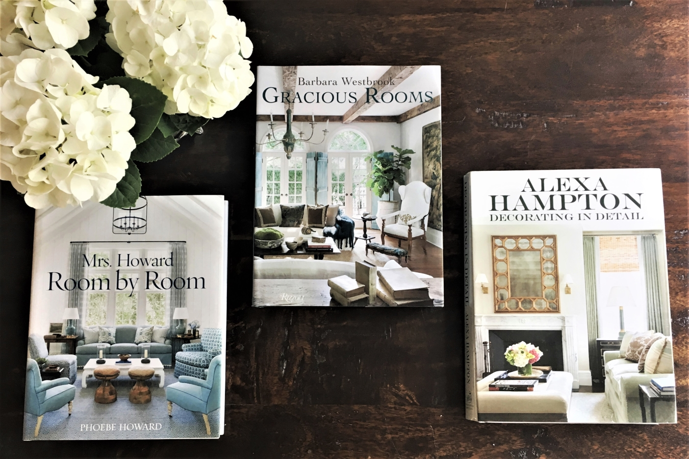 Some of my favorite coffee table books about homes: Barbara Westbrook, Phoebe Howard, Alexa Hampton - I use them for inspiration constantly!