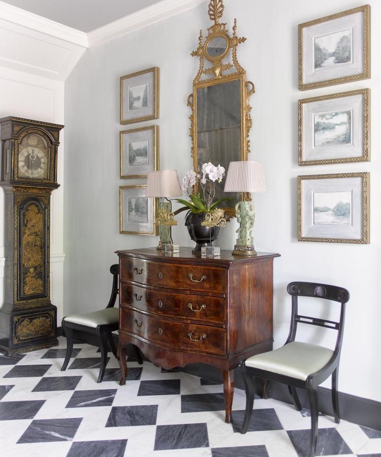 Jackye Lanham's exquisite entry hall  photo by David Christensen