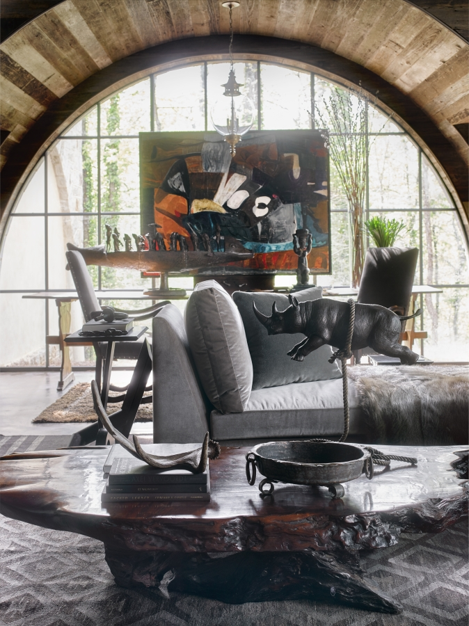 Man Cave designed by Bill Peace of Peace Designs photo by David Christensen