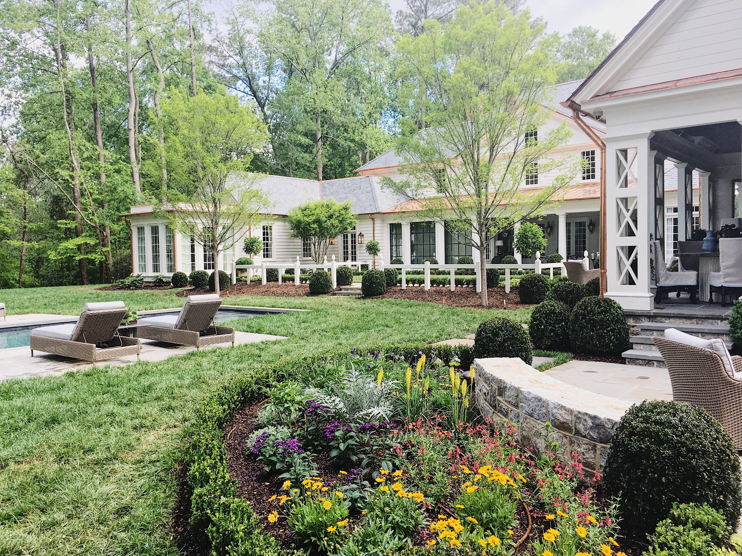 Back yard of the Southeastern Designer Showhouse & Gardens