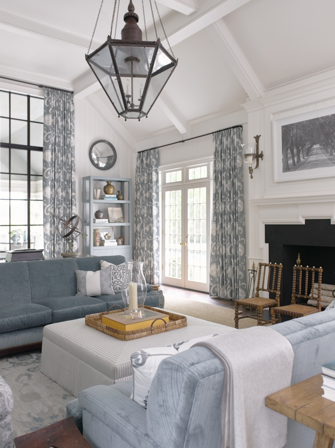 Phoebe Howard's Family Room - love those little chairs photo by David Christensen