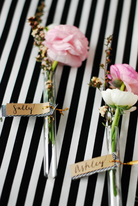 Precious placecards from  The Proper Blog