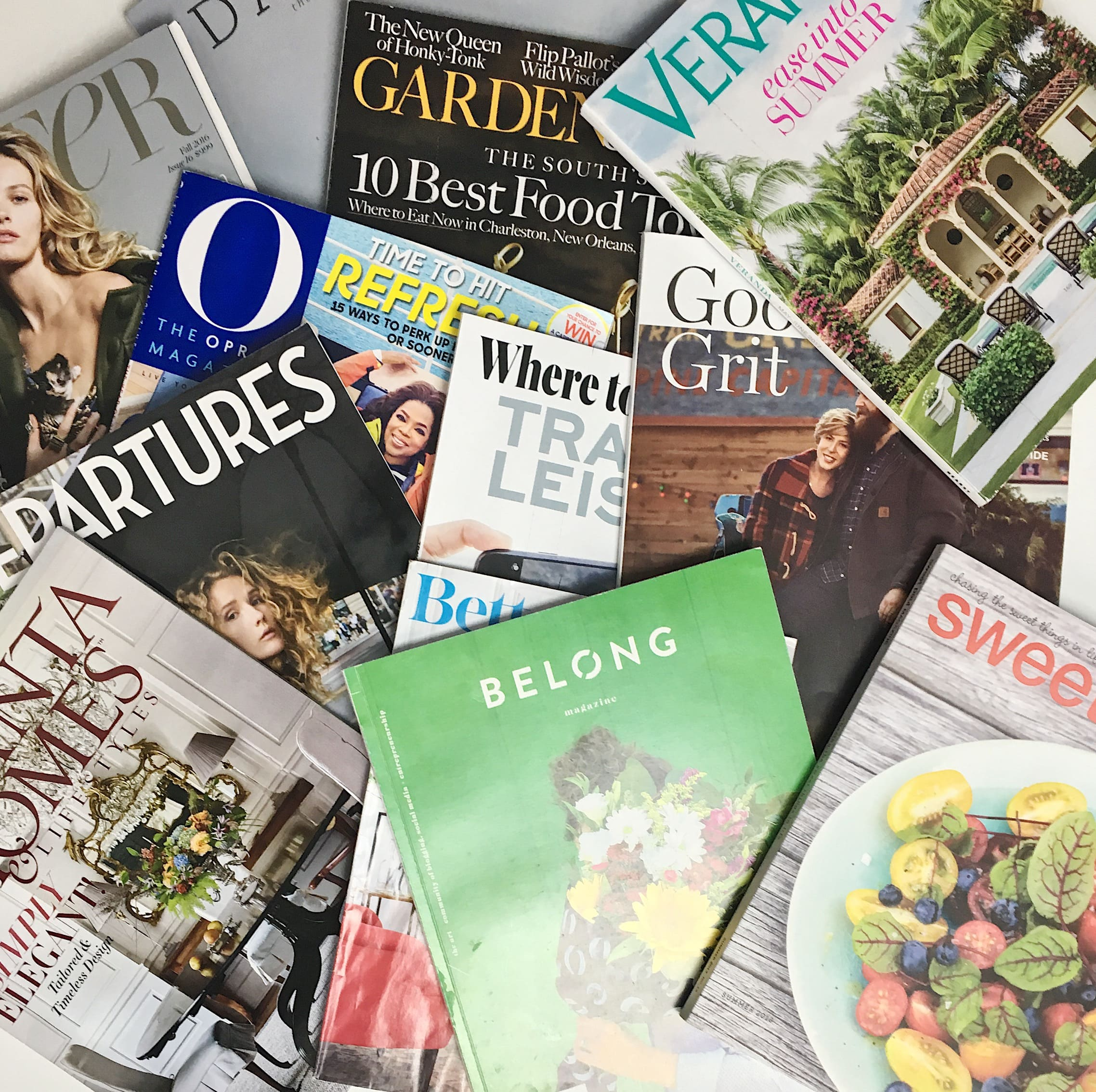 I love magazines - a few of the ones sitting around my house.