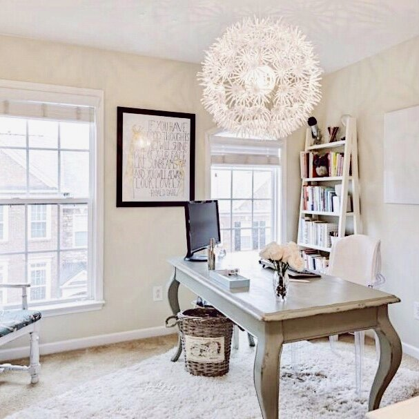 Okay - this is an old shot, but one of my bigger home offices.
